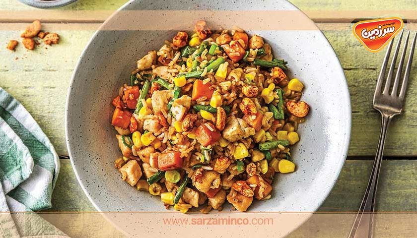 پلوی مخلوط سبزیجات چینی