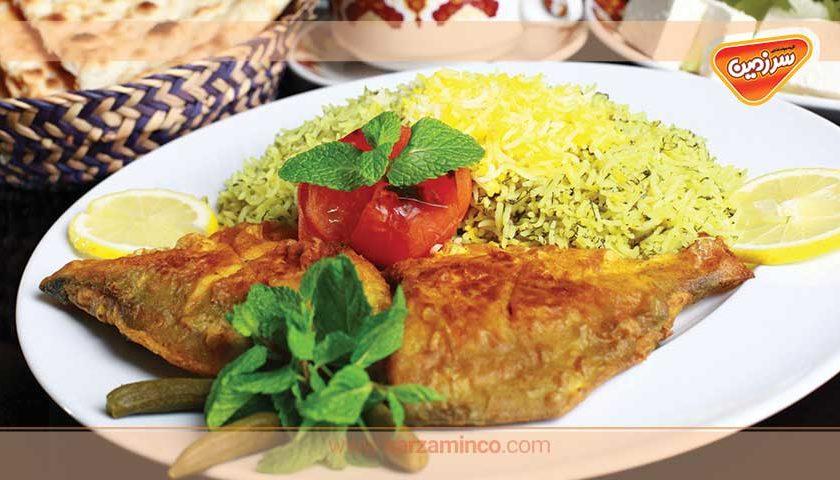 سبزی پلو با ماهی مخصوص سال نو
