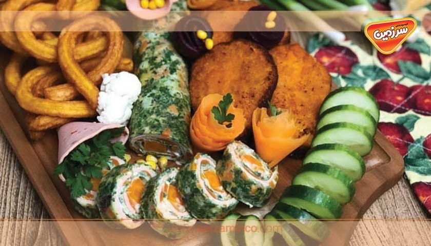 رولت گوشت و سبزیجات مجلسی بپزید!