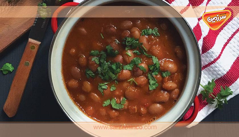 خوراک لوبیا به روشی سریع و آسان